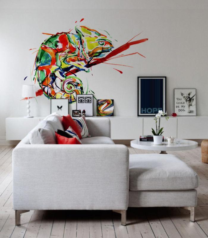 Splash Of Chameleon's Colours Wall Decal