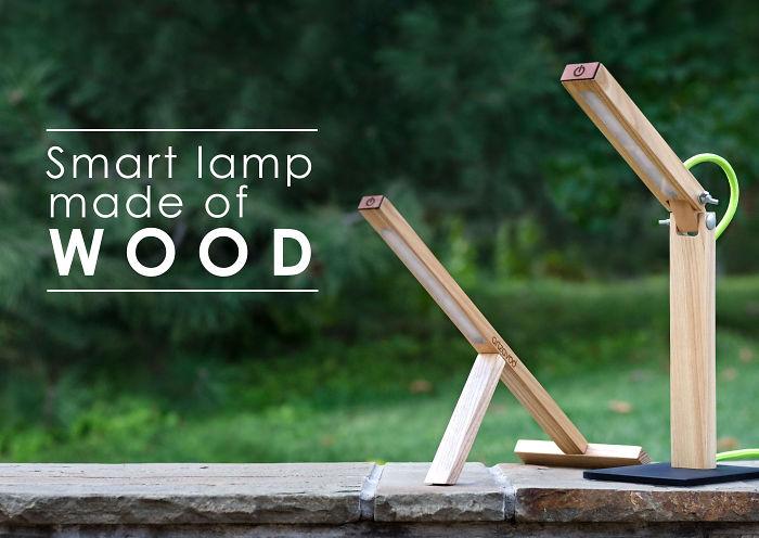 Smart Lamp Made Of Wood