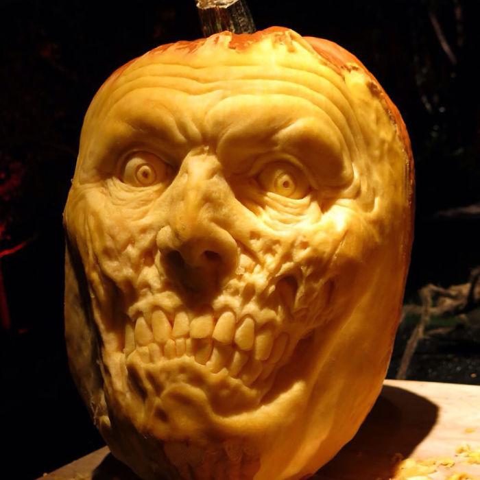 A Zombie Pumpkin