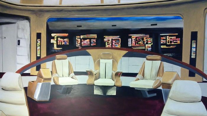 I Painted A Mural Of The Star Trek Enterprise Command Deck