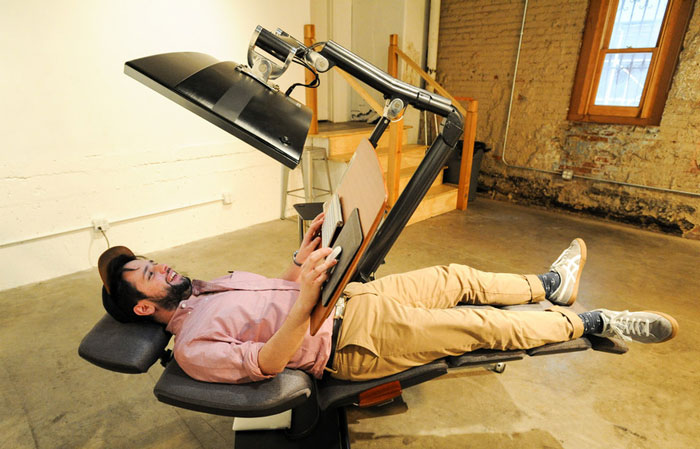This $5,900 Desk Will Let You Work Lying Down