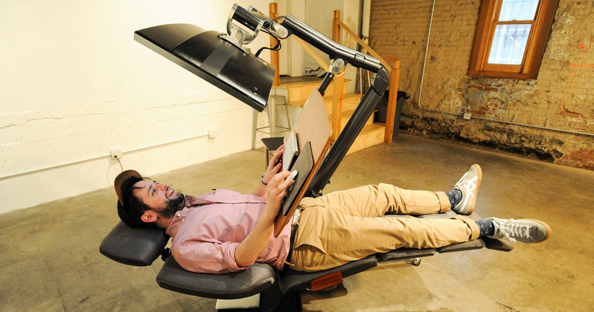 This $5,900 Desk Will Let You Work Lying Down | Bored Panda