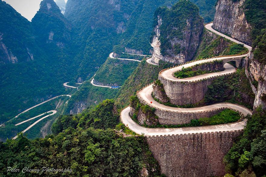 Camino A Las Montañas Tianmen, Zhangjiajie