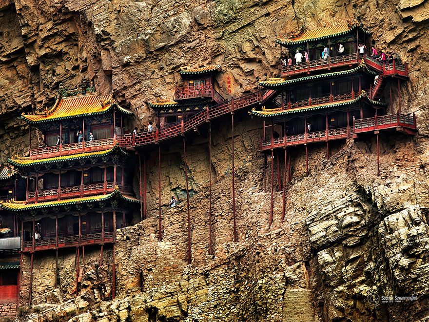 The Hanging Monastery Outside Of Datong