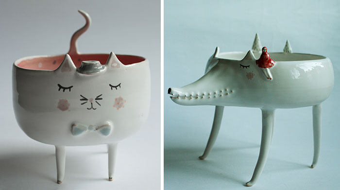 "Adorable Animal Ceramics By Polish Artist ""Clay Opera"""