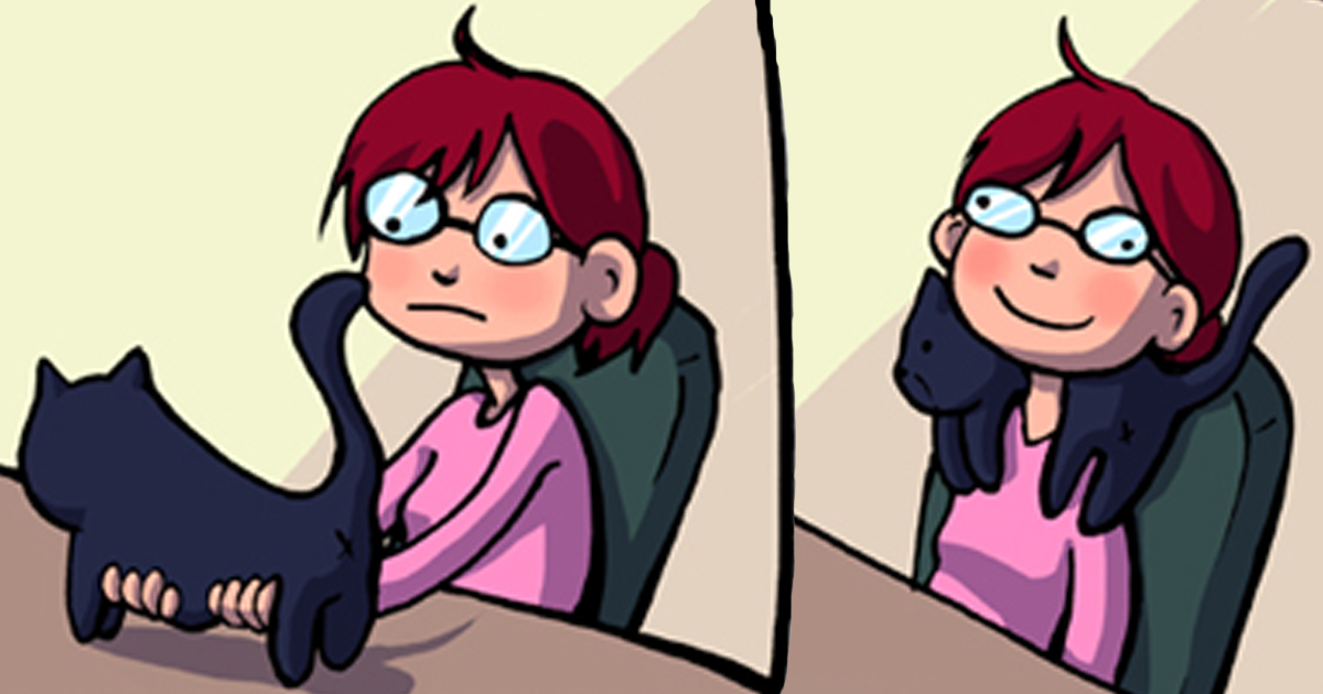 45 Comics That Perfectly Sum Up What It's Like To Live With Cats