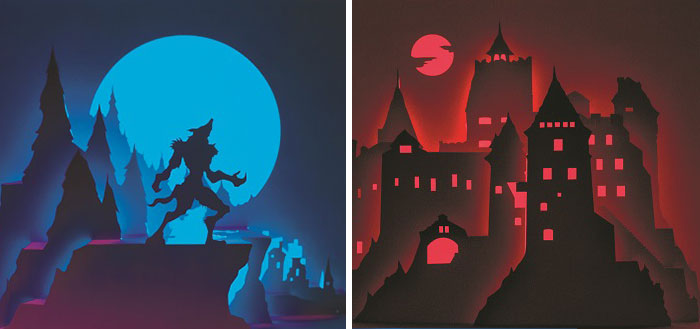 Artist Cuts Single Sheet Of Paper Into Halloween Scenes