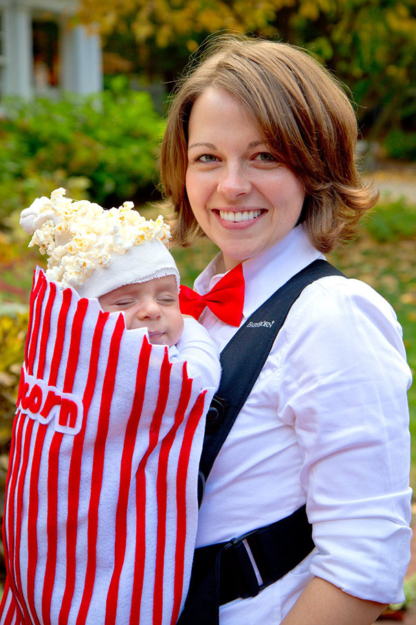 Box Of Popcorn Baby And Parent Costume