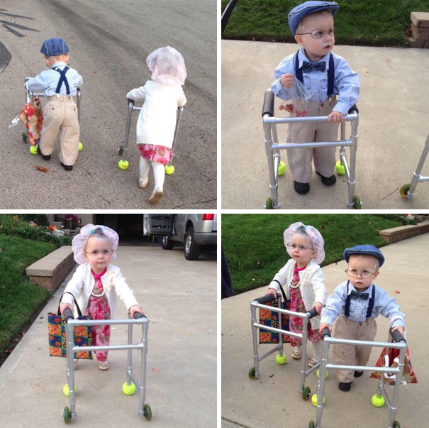 Little Twins' Halloween Costumes