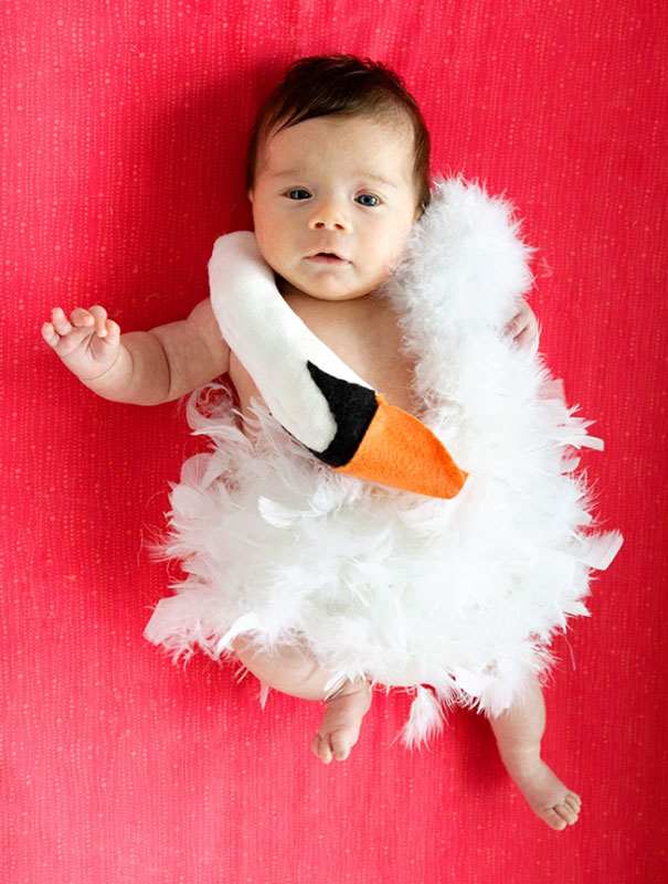 My 7-Week-Old Baby Girl, Remy Sheehan, Dressed As Baby Bjork For Her First Halloween