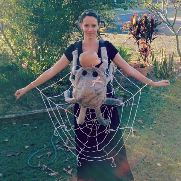 Mom & Baby Spiderweb Costume