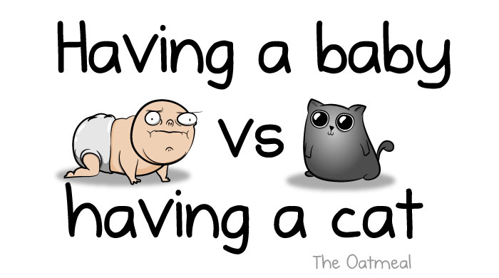 Having A Baby VS Having A Cat (9 Pics)