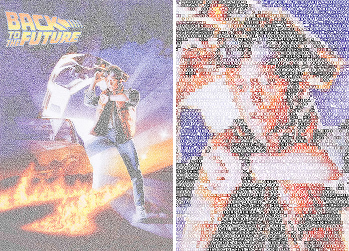 To Celebrate Back To The Future Day, I Recreated The Posters Using Their Scripts