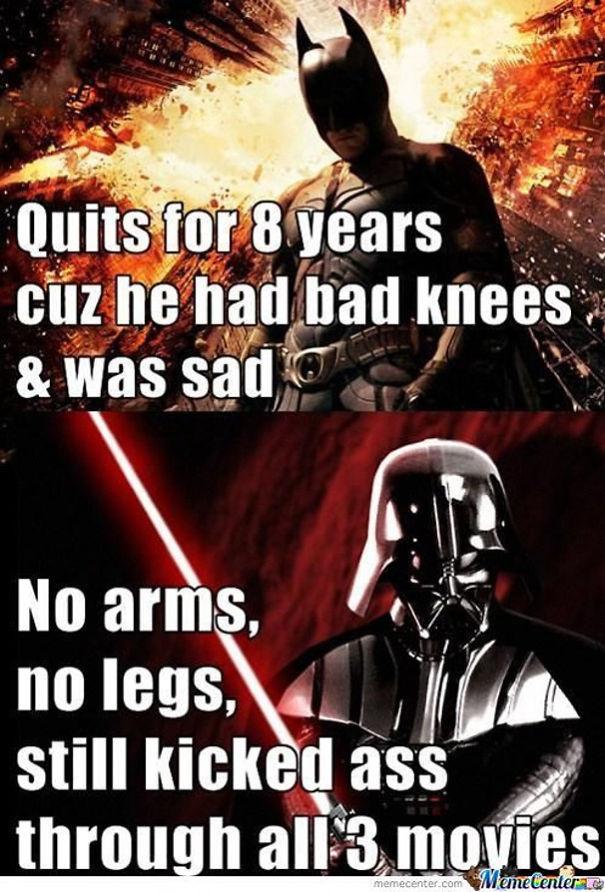 Batman < Darth Vader