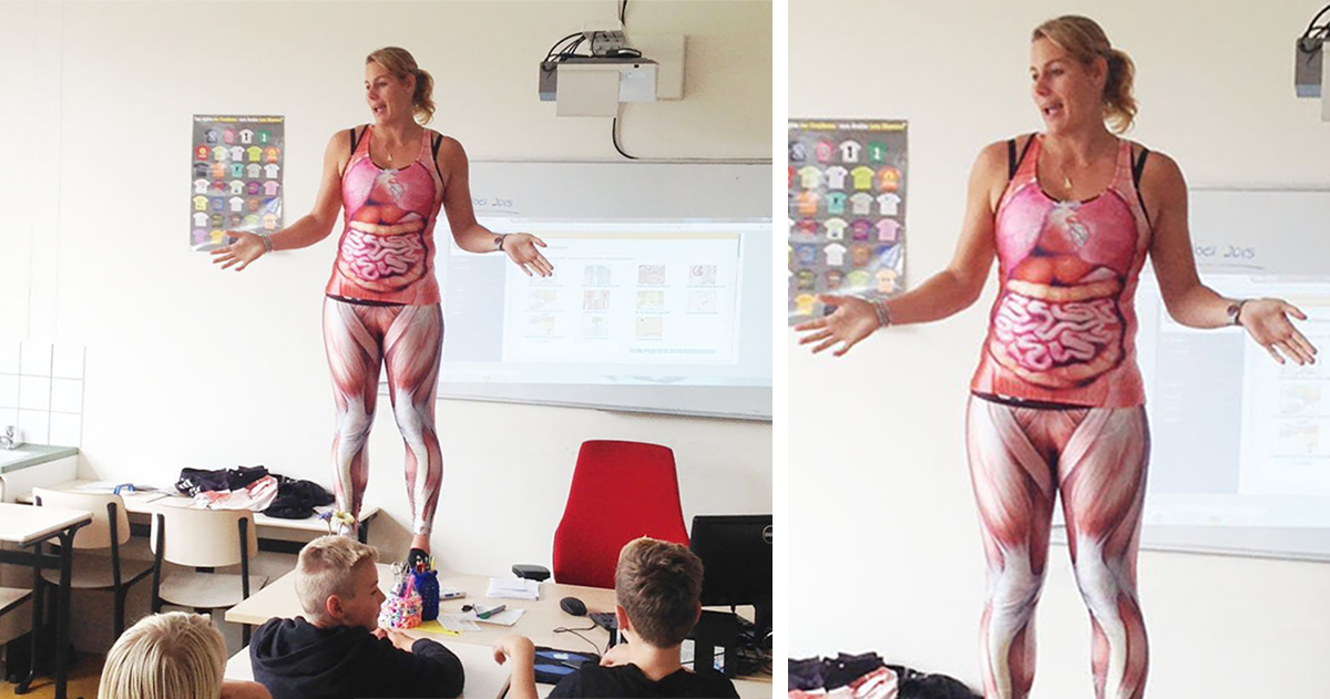 This Biology Teacher Has Her Own Way Of Teaching About The Human