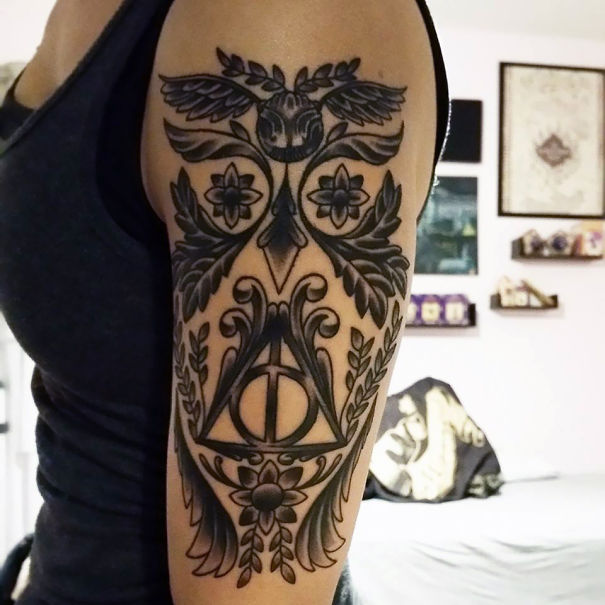 Harry Potter Hidden Owl Tattoo