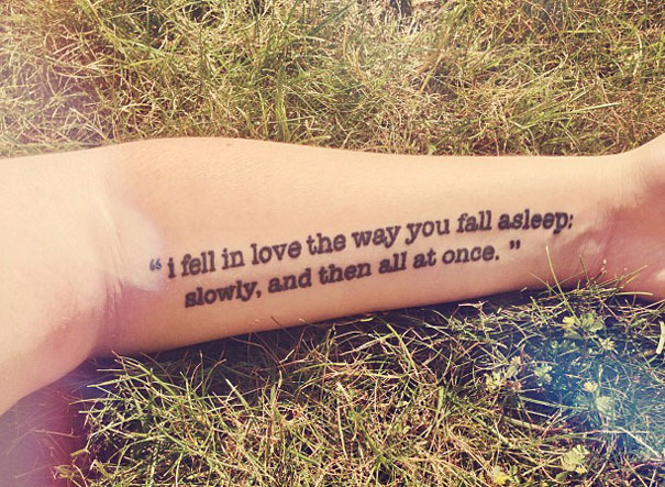 The Fault In Our Stars Tattoo