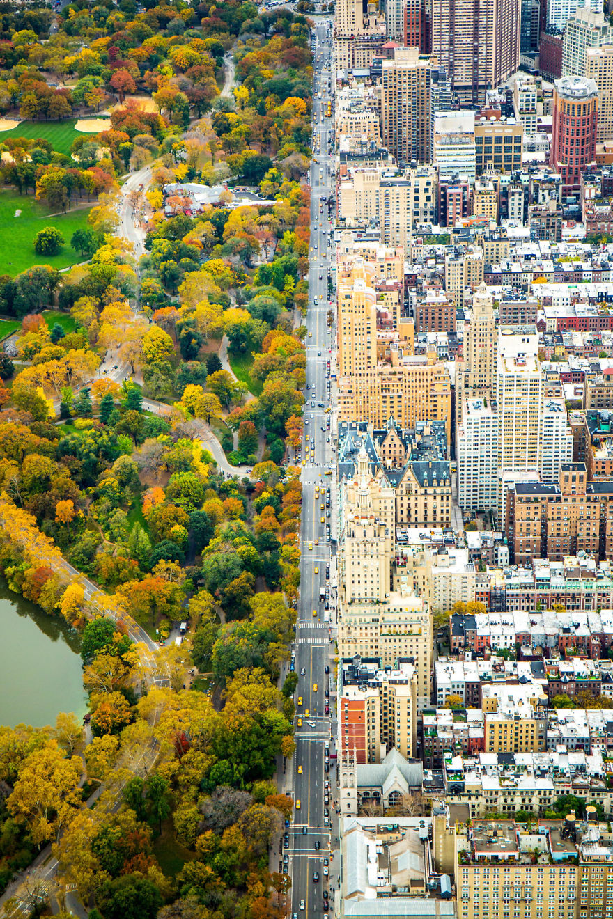 Incredible Contrast Between Two Worlds The City Vs Central Park