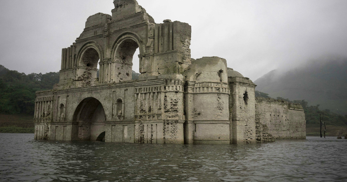 400-Year-Old Colonial Church Emerges From Waters In Mexico