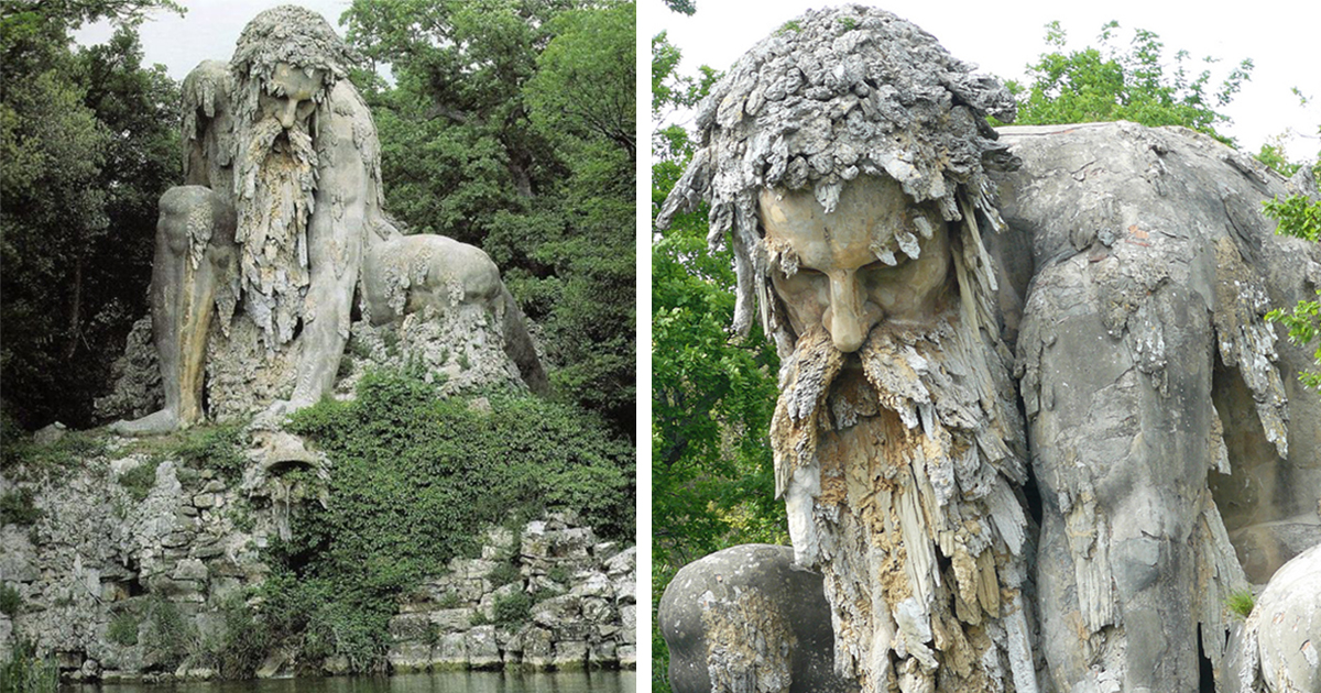 Giant 16th Century Colossus Sculpture In Florence Italy