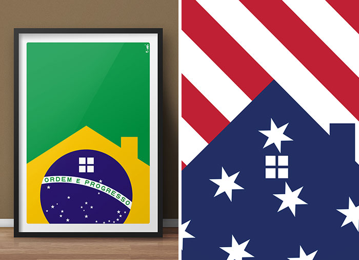 I Create Posters Where Country Flags Become Houses