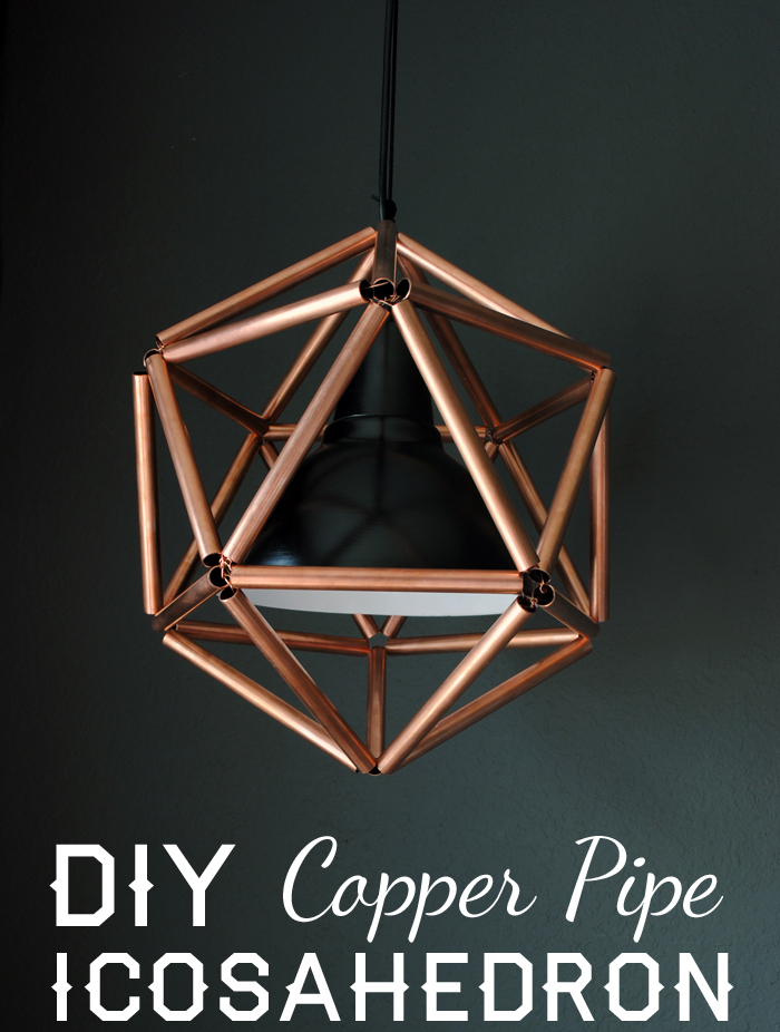 Copper Pipe Icosahedron Light Fixture