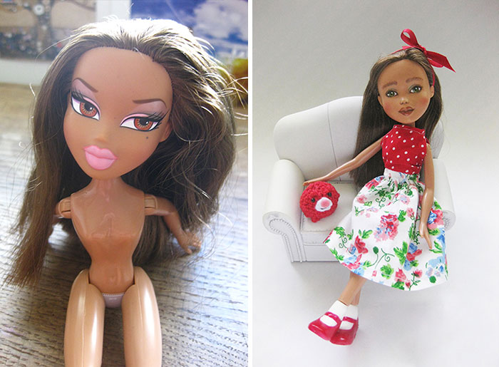 I Desexualize And Repaint Second-Hand Fashion Dolls To Look Like Real-Life Women