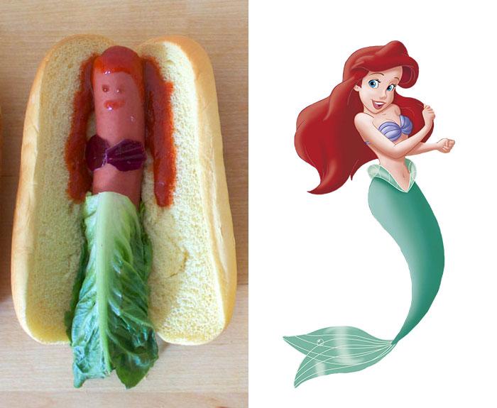 Disney Princesses Reimagined As Hot Dogs
