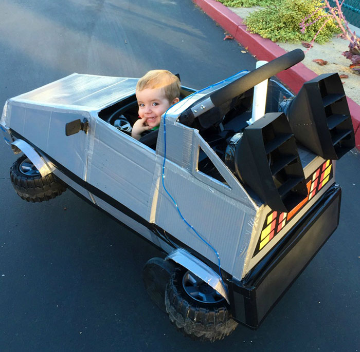 I Made This Back To The Future Delorean Out Of A Stroller