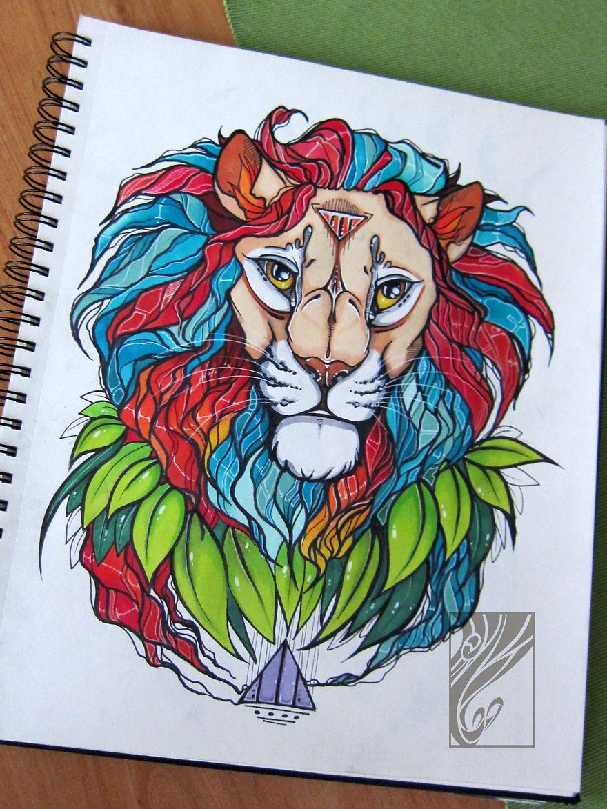 Spiritis I Fill My Sketchbook With Mandala Animals