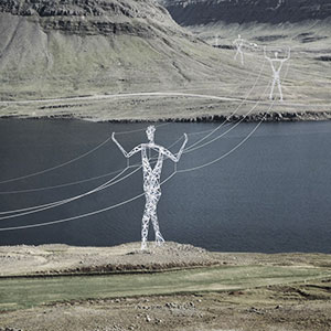 Architects Turn Iceland's Boring Electricity Pylons Into Giant Human Statues
