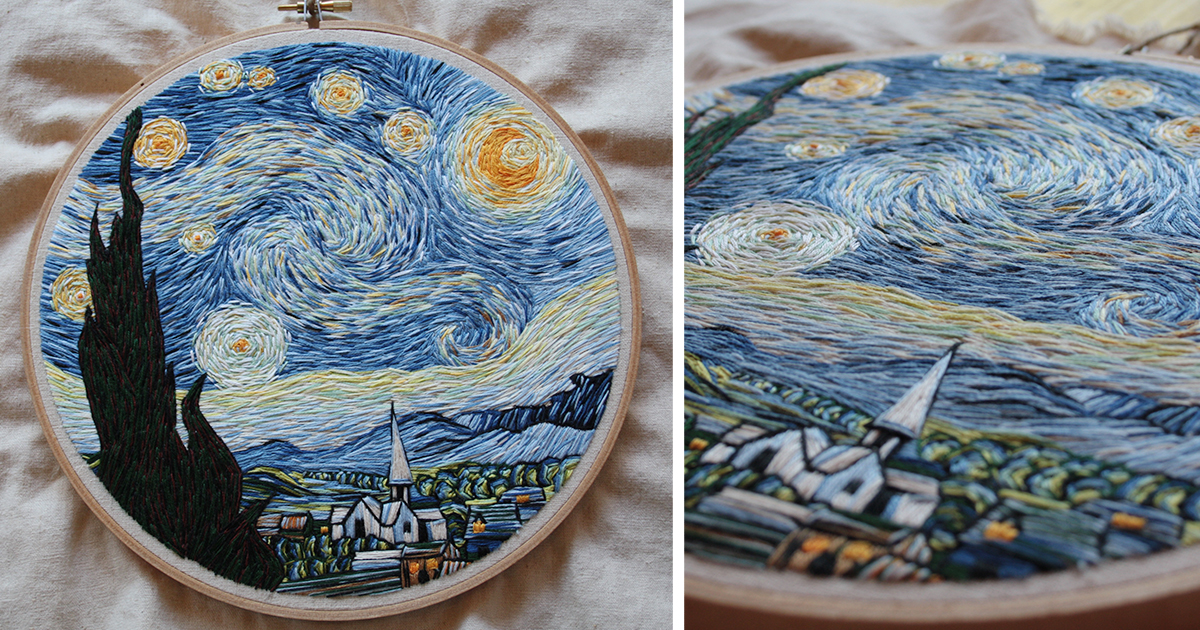 I Recreated Van Gogh's 'Starry Night' Using Only
