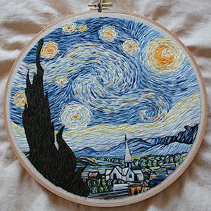 I Recreated Van Gogh's 'Starry Night' Using Only Needle And Thread