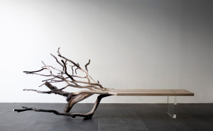 """Fallen Tree"" Bench Perfectly Illustrates Where It Came From"