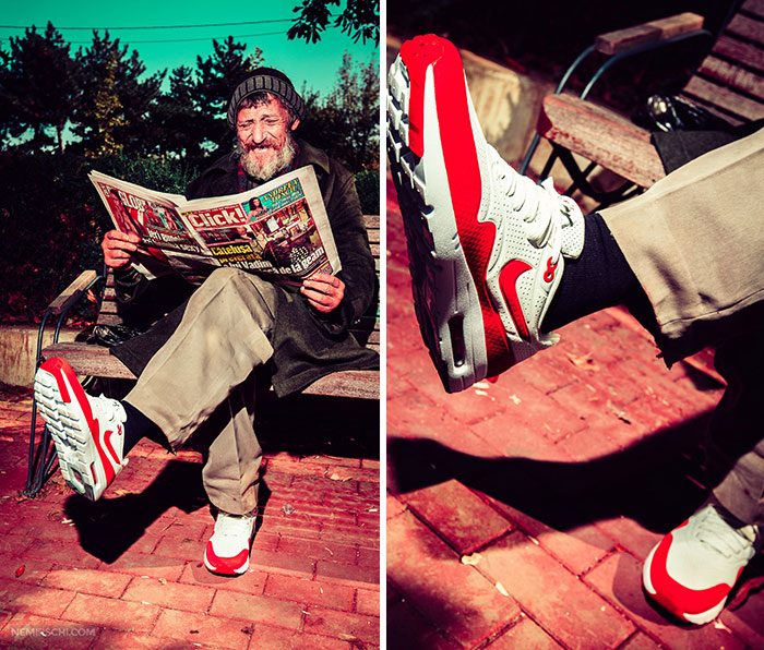 We Asked Homeless People To Model Our New Sneakers To Encourage People To Donate