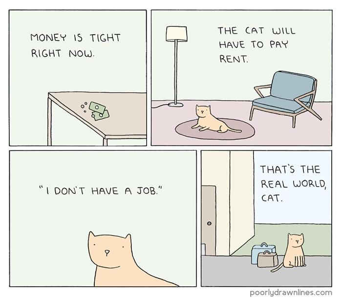 164 Funny Animal Comics Show Their Human-Like Problems