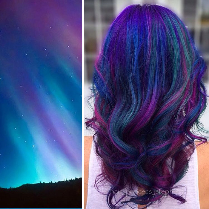 Galaxy Inspired Hair Color