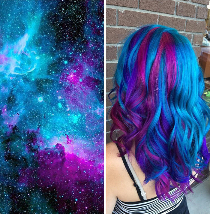 This Galaxy Hair Trend Is Out Of This World Bored Panda