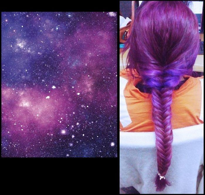 Purple Galaxy Hair