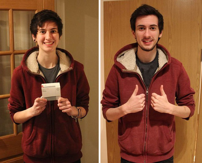 Trans Teen Takes A Selfie Every Day For 3 Years To Show His Dramatic Transformation Into A Man
