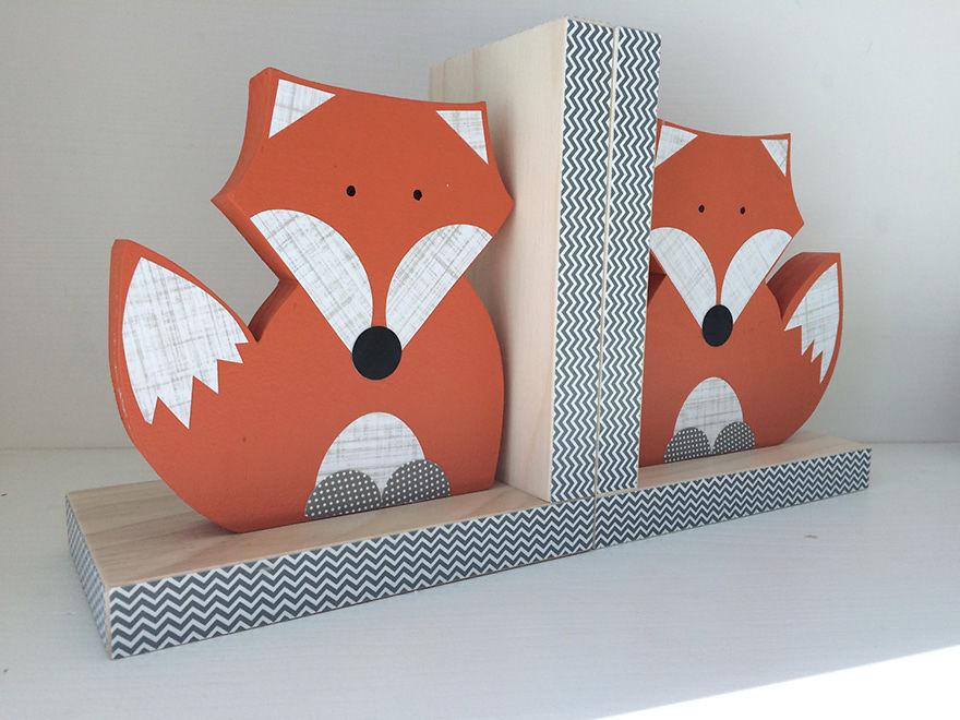 Fox Bookends