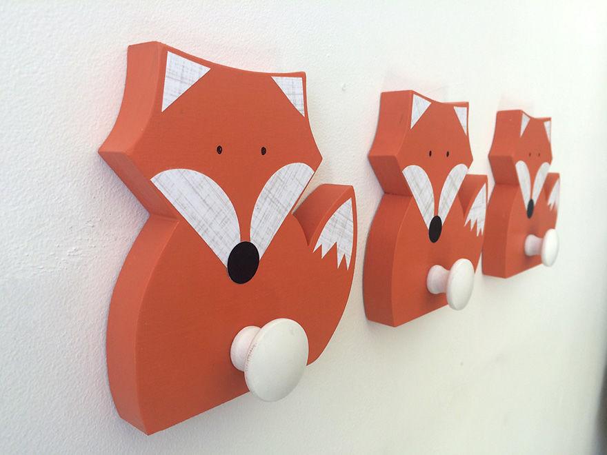 Fox Wall Hooks