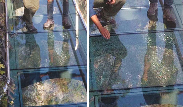 Feet High Glass Walkway In China