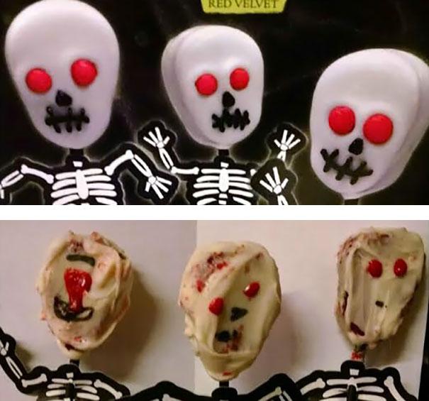 Skull Cake Pops – A Little Too Scary