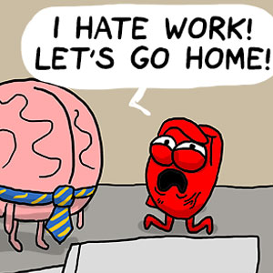 Heart Vs. Brain: Funny Webcomic Shows Constant Battle Between Our Intellect And Emotions