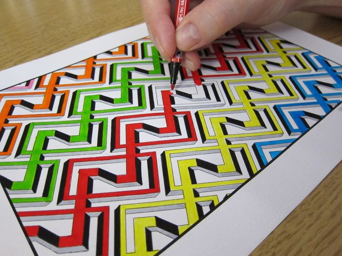I Created Impossible 3d Optical Illusions You Can Color In