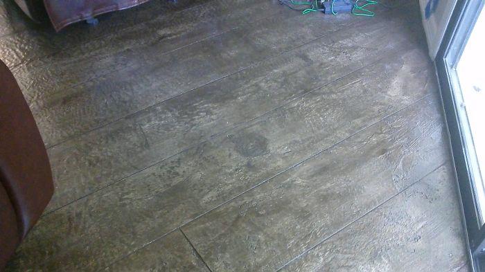 I Hand Texture Concrete To Look Like Wood