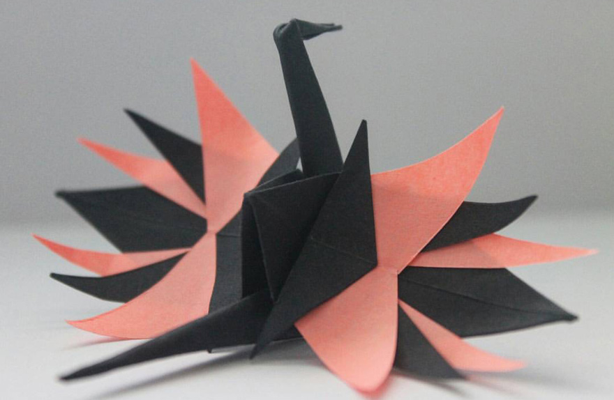 2 origami cranes