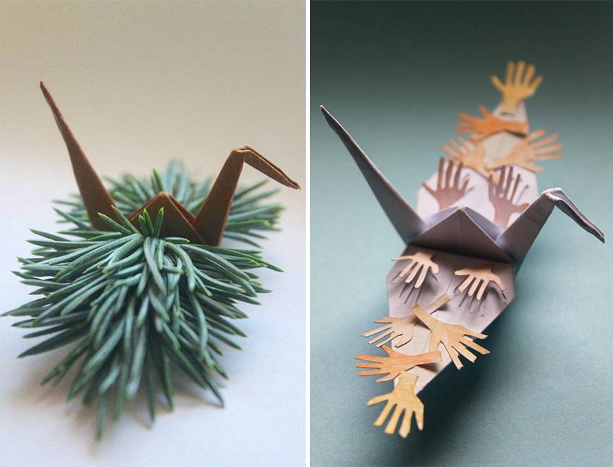 Origami Crane Instructions Stock Vectors, Images & Vector Art ... | 671x880