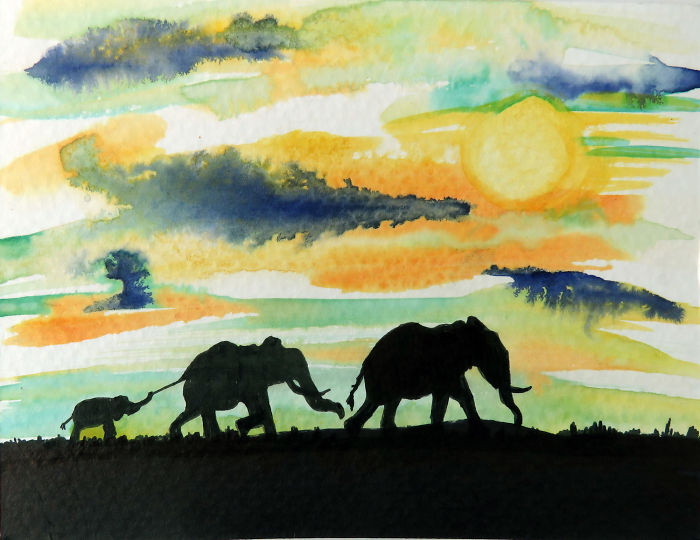 I Painted 96 Elephants In One Day To Honor Their Deaths In Africa